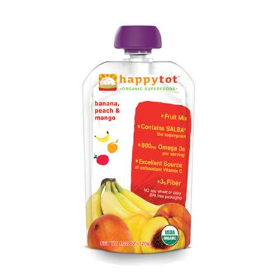 Happy Tot Organic Stage 4 Pouch Food Banana Mango & Peach
