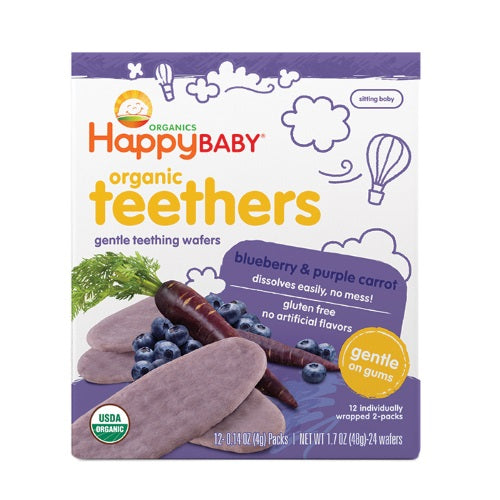 Happy Baby Teethers Teething Wafers Blueberry & Purple