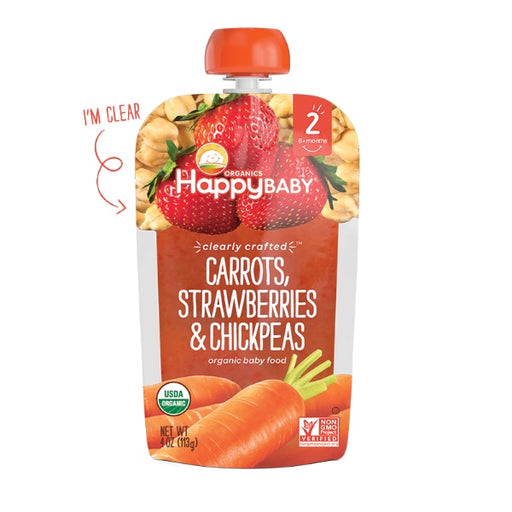 Happy Baby Stage 2 Clearly Crafted Carrots Strawberries and