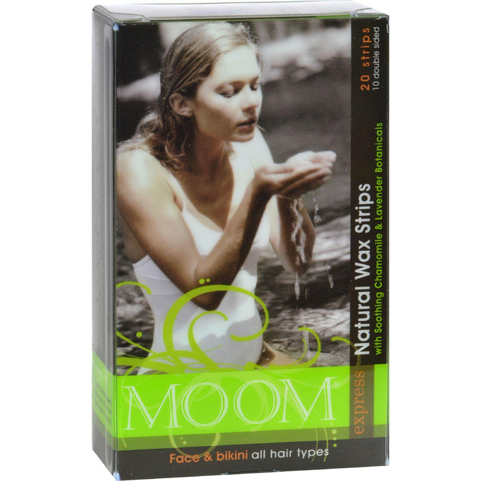 Moom Natural Wax Strips With Soothing Chamomile And Lavender