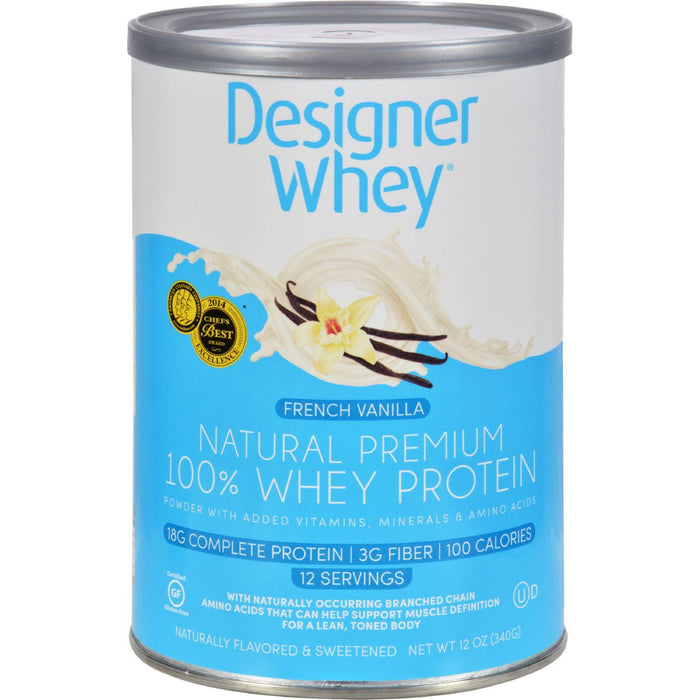 Designer Whey - Protein Powder - French Vanilla - 12 Oz