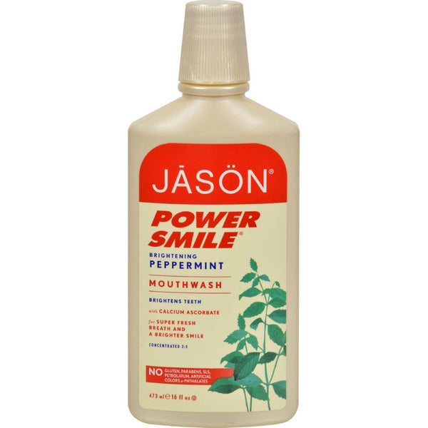 Jason Powersmile Mouthwash Peppermint - 16 Fl Oz
