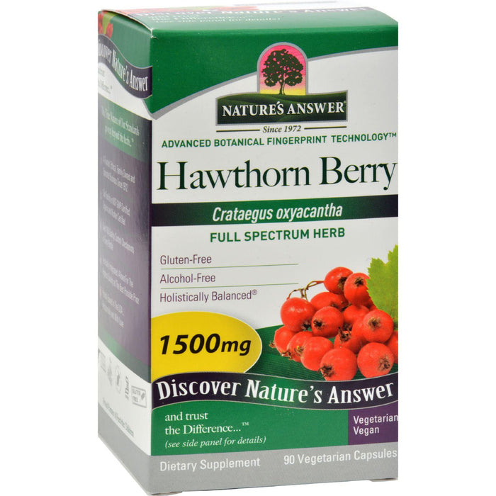Nature's Answer - Hawthorn Berry - 90 Vegetarian Capsules