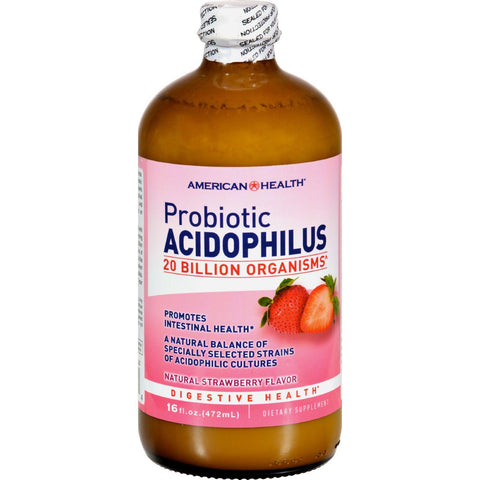 American Health Acidophilus Natural Strawberry - 16 Fl Oz