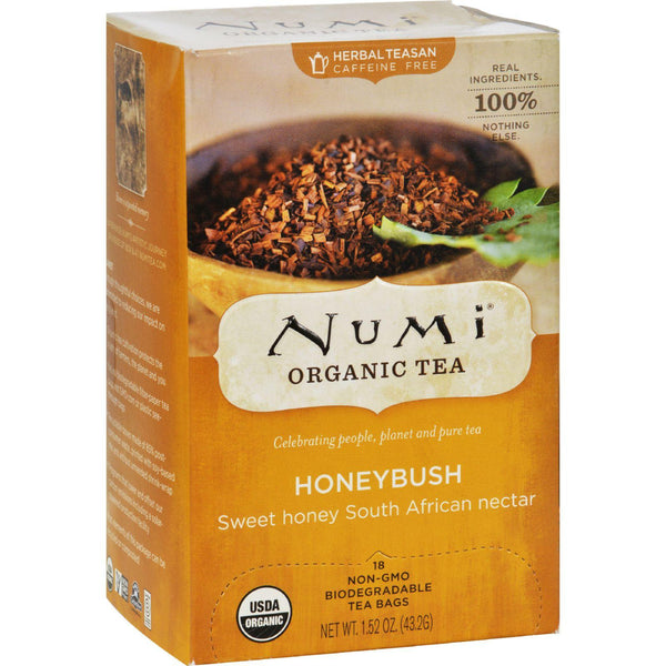 Numi Honeybush Bushman's Brew - 18 Tea Bags - Case Of 6
