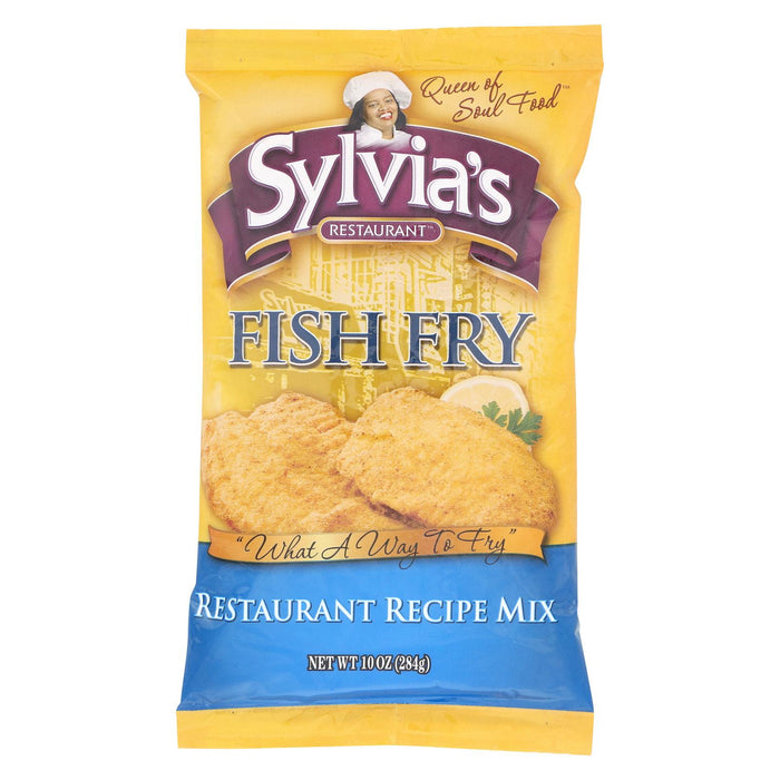 Sylvia's Fish Fry Mix - Case Of 9 - 10 Oz.