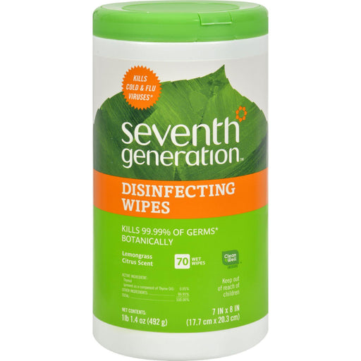 Seventh Generation Disinfecting Wipes Lemongrass And Citrus