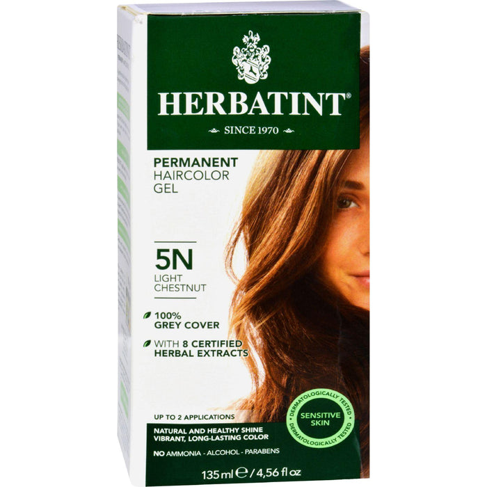 Herbatint Permanent Herbal Haircolour Gel 5n Light Chestnut