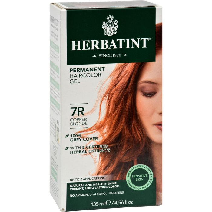 Herbatint Permanent Herbal Haircolour Gel 7r Copper Blonde -