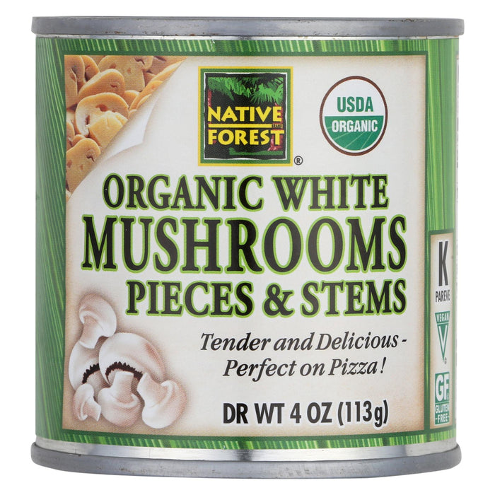 Native Forest Organic Mushrooms - Pieces And Stems - Case Of