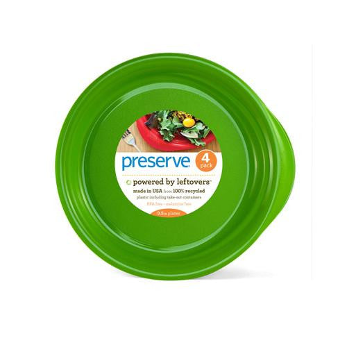 Preserve Everyday Plates - Apple Green - Case Of 8 - 4 Pack - 9.5 In - evoxMarket