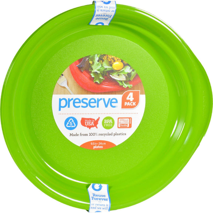 Preserve Everyday Plates - Apple Green - Case Of 8 - 4 Pack
