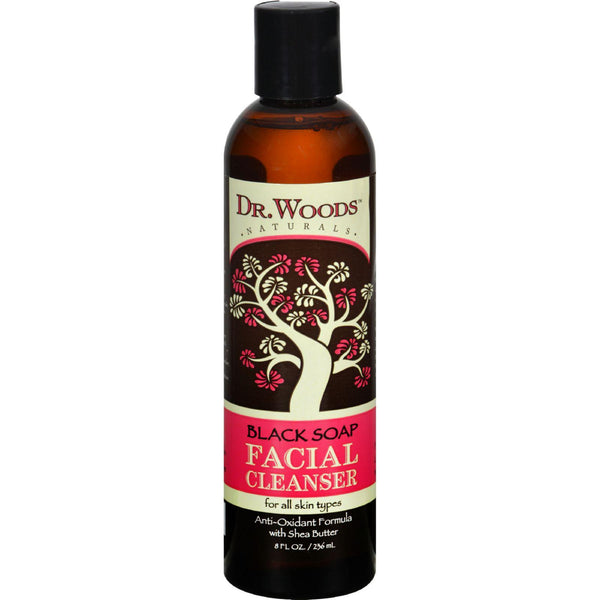 Dr. Woods Facial Cleanser Black Soap And Shea Butter - 8 Fl Oz