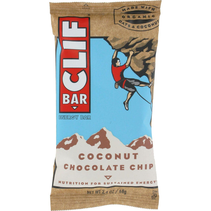Clif Bar - Organic Coconut Chocolate Chip - Case Of 12 - 2.4