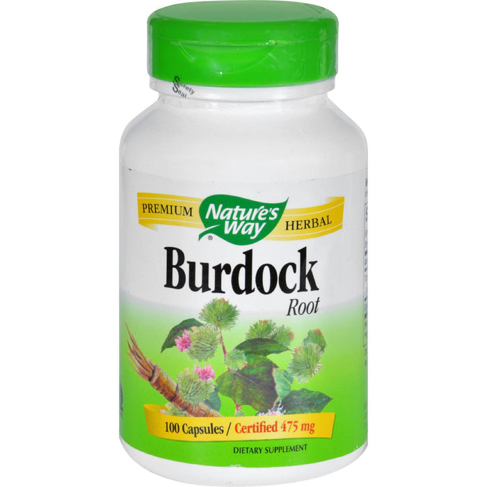 Nature's Way - Burdock Root - 100 Capsules
