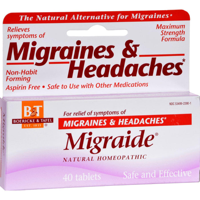 Boericke And Tafel - Migraide - 40 Tablets