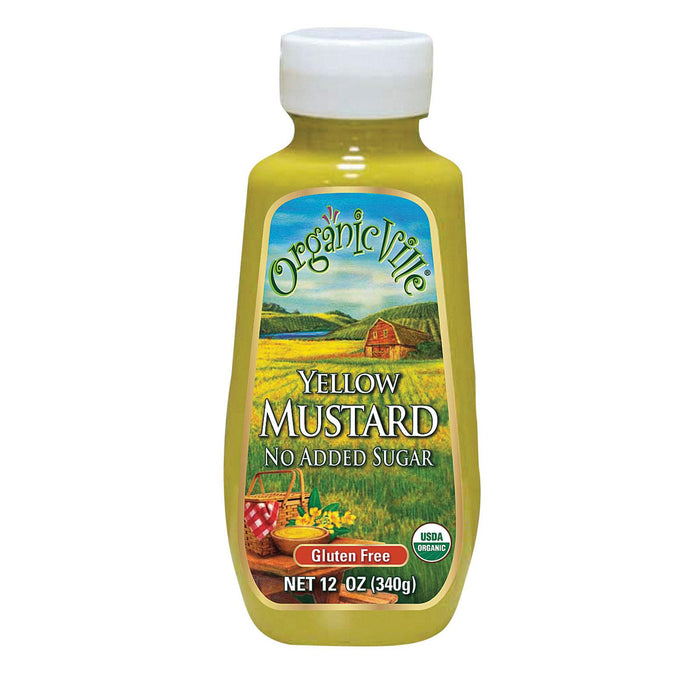 Organic Ville Organic Yellow - Mustard - Case Of 12 - 12 Oz.
