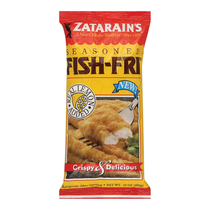 Zatarain's Fish Fry- Seasoned - Case Of 12 - 10 Oz.