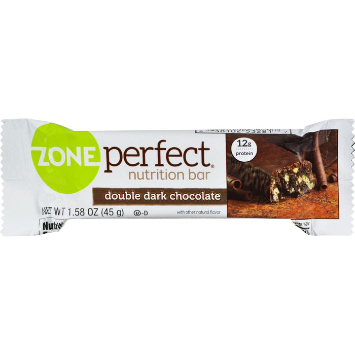 Zone - Nutrition Bar - Double Dark Chocolate - Case Of 12 - 1.58 Oz.