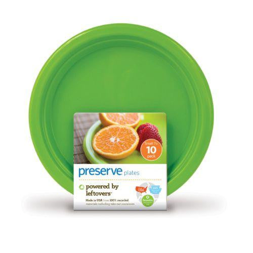 Preserve On The Go Small Reusable Plates - Apple Green -