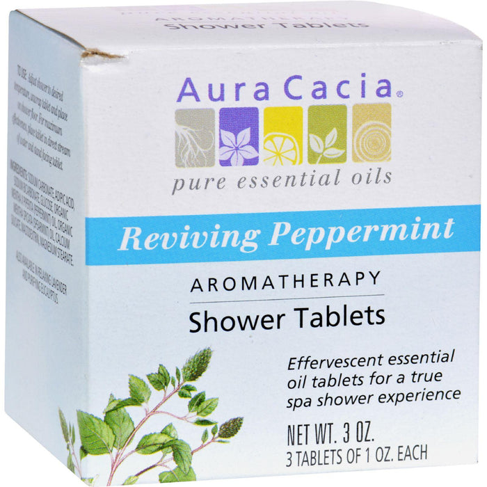 Aura Cacia - Reviving Aromatherapy Shower Tablets Peppermint