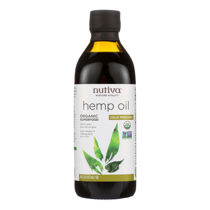 Nutiva Hemp Oil, Cold-pressed  - 1 Each - 16 Fz