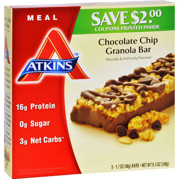 Atkins Advantage Bar Chocolate Chip Granola - 5 Bars
