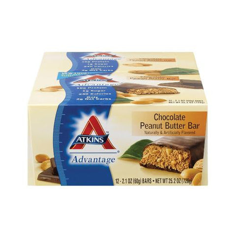 Atkins Advantage Bar - Chocolate Peanut Butter - Case Of 12 - 2.1 Oz - evoxMarket