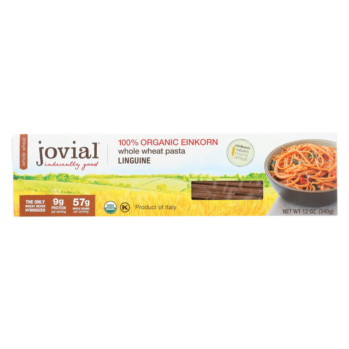 Jovial - Whole Wheat Einkorn Pasta - Linguine - Case Of 12 - 12 Oz.