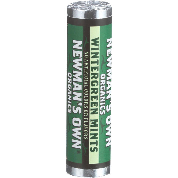 Newman's Own Organics Mints - Organic - Wintergreen - Roll - .75 Oz - Case Of 12