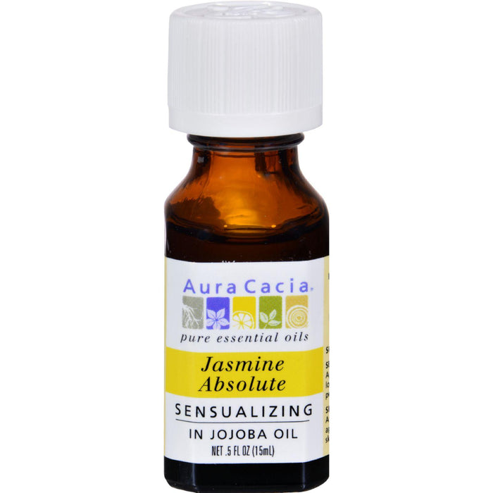 Aura Cacia - Jasmine Absolute In Jojoba Oil - 0.5 Fl Oz
