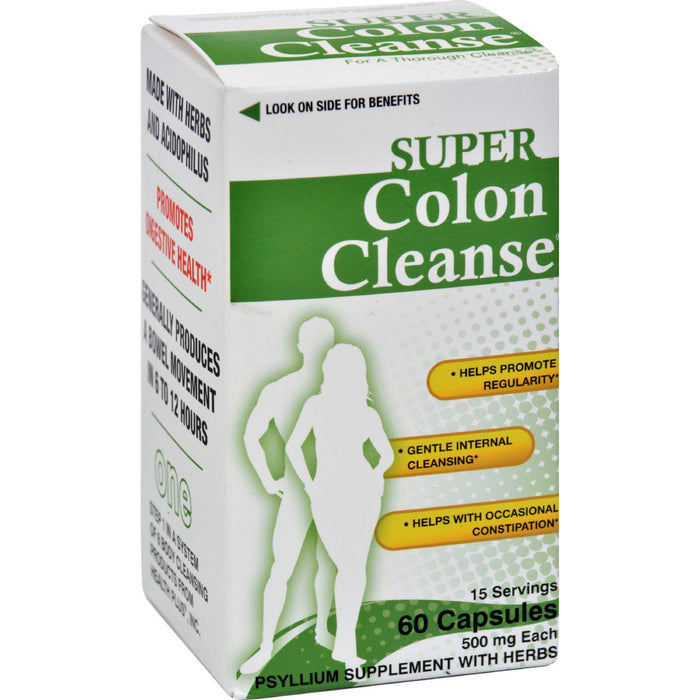Health Plus - Super Colon Cleanse - 60 Capsules