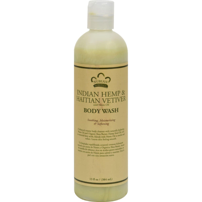 Nubian Heritage Body Wash Indian Hemp And Haitian Vetiver -