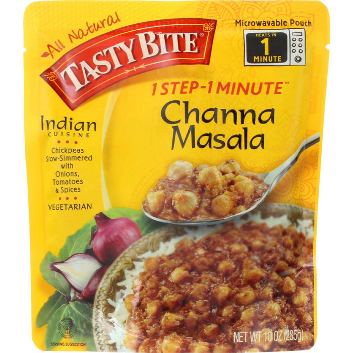 Tasty Bite Entree - Indian Cuisine - Channa Masala - 10 Oz - Case Of 6