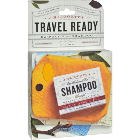 J.r. Liggett's Ez-pouch Ultra Balanced Bar Shampoo With Ez Carry Case - 1 Bar