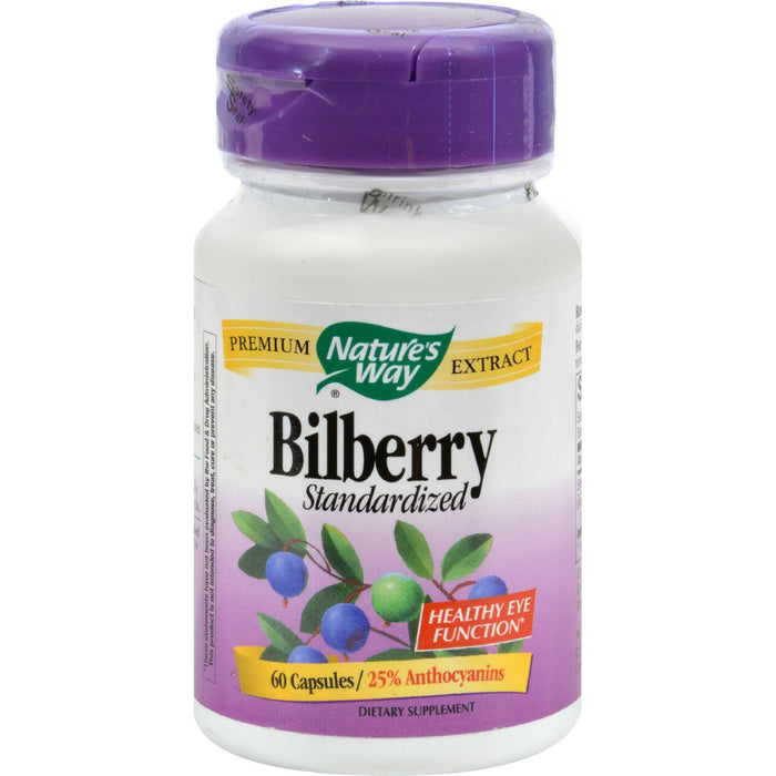 Nature's Way - Standardized Bilberry - 60 Capsules