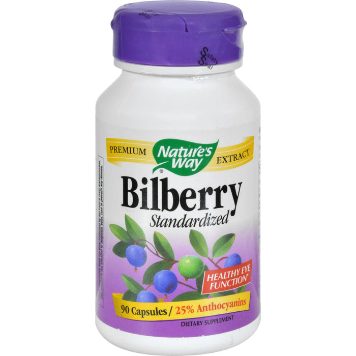 Nature's Way - Standardized Bilberry - 80 Mg - 90 Capsules