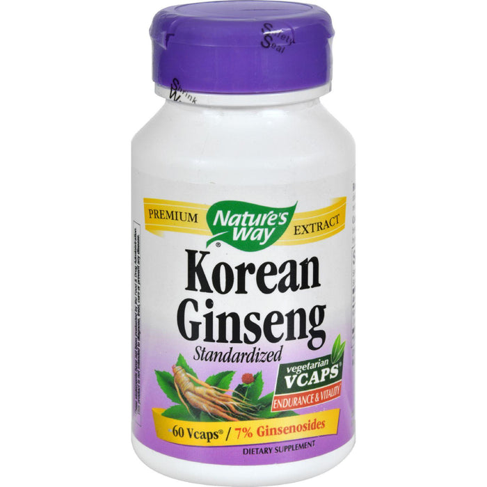 Nature's Way - Korean Ginseng Root Standardized - 60