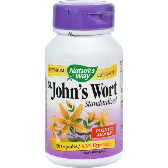 Nature's Way - St John's Wort Standardized - 90 Capsules