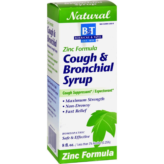Boericke And Tafel - Cough And Bronchial Syrup With Zinc - 8