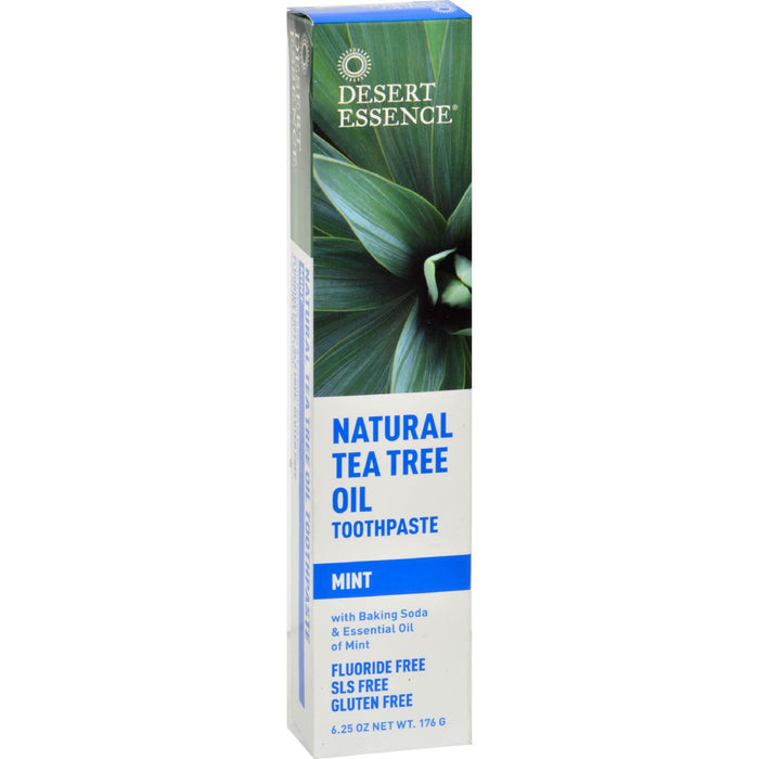 Desert Essence - Natural Tea Tree Oil Toothpaste Mint - 6.25 Oz