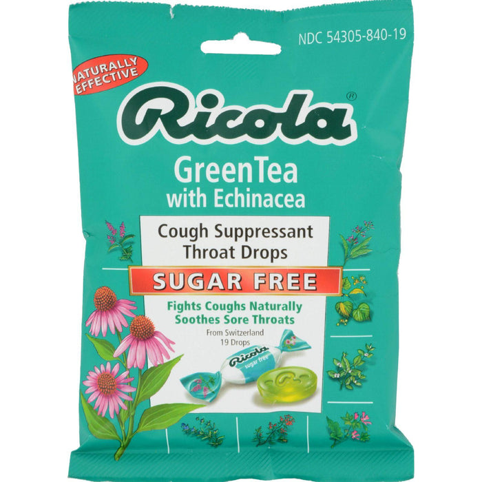 Ricola Sugar Free Green Tea Cough Drops With Echinacea - 19