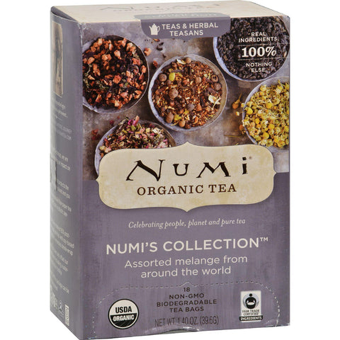 Numi Tea Numi's Collection - Assorted Melange From Around The World - 18 Bags
