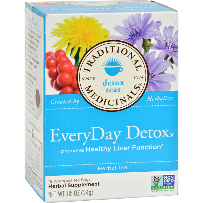 Traditional Medicinals Everyday Detox Herbal Tea - 16 Tea