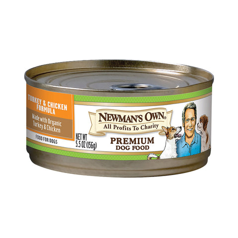 Newman's Own Organics Turkey And Chicken - Organic - Case Of 24 - 5.5 Oz.