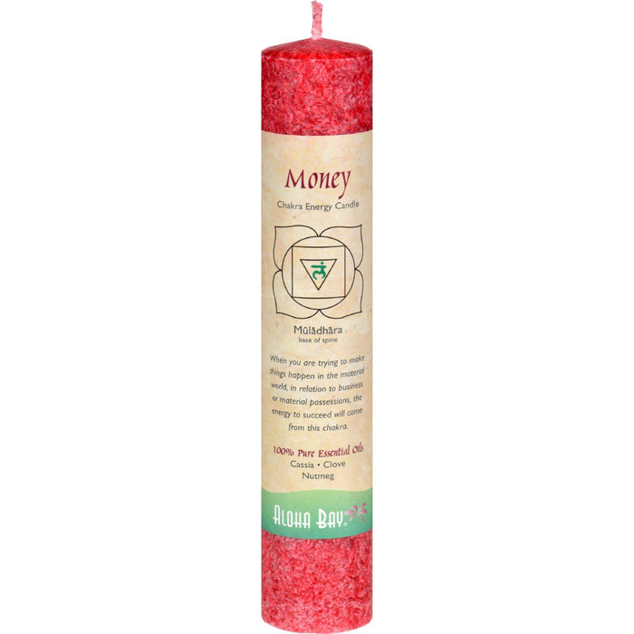Aloha Bay - Chakra Pillar Candle - Red - 8""