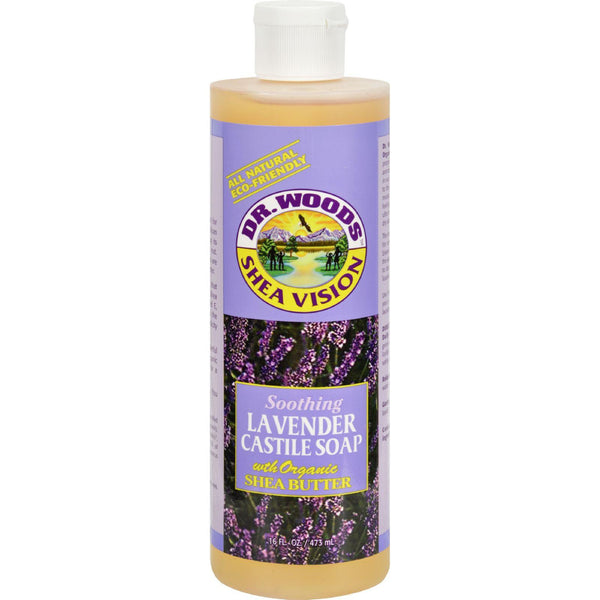 Dr. Woods Shea Vision Pure Castile Soap Lavender With Organic Shea Butter - 16 Fl Oz