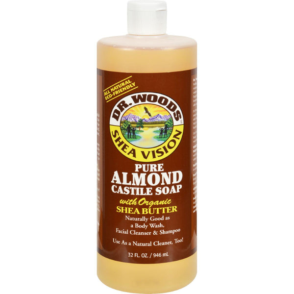 Dr. Woods Shea Vision Pure Castile Soap With Organic Shea Butter Almond - 32 Fl Oz