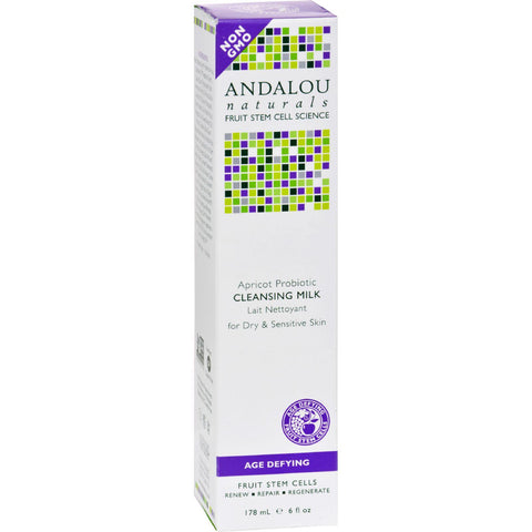 Andalou Naturals Cleansing Milk For Dry Sensitive Skin Apricot Probiotic - 6 Fl Oz