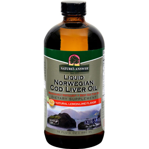 Nature's Answer - Liquid Norwegian Cod Liver Oil - 16 Fl Oz